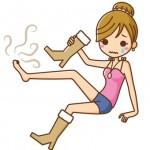 ブーツで足が蒸れる女性