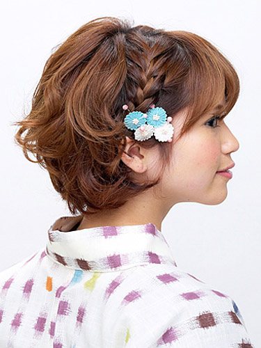 Hairstyles for Short Hair and Kimono