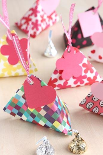 友チョコのラッピング ... : 折り紙 模様 : すべての折り紙