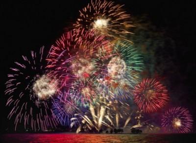 松江水郷祭湖上花火