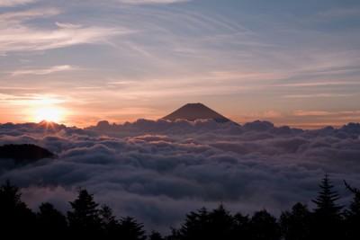 初日の出 高尾山