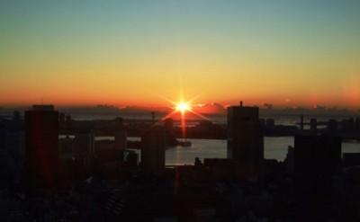 初日の出 東京タワー